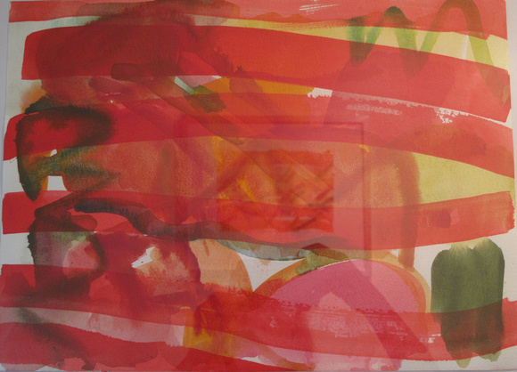 Rhythms in Red No.1 watercolour